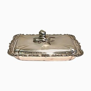 Vintage Silver Tray with Top