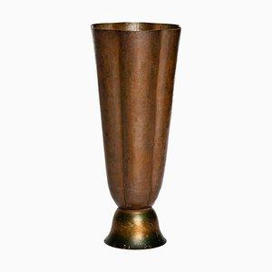 Vintage Vase aus gehämmertem Kupfer von Angelo Molignoni
