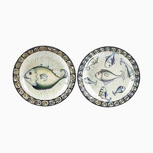 Vintage Ceramic Plates, Italy, Set of 2