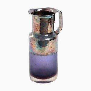 Krug aus Glas und Silber von Carlo Scarpa für Christofle, 1960