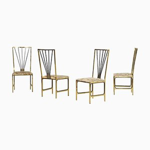 Vintage Chairs Attributed to Romeo Rega, 1980s, Set of 4