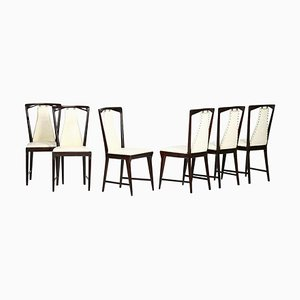 Mid-Century Chairs Attributed to Osvaldo Borsani, 1950s, Set of 6