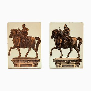 Bookends with Monuments by Piero Fornasetti, 1950s, Set of 2