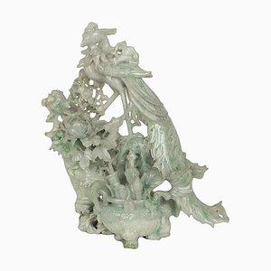 Chinesische Vintage Jadeit Schnitzerei