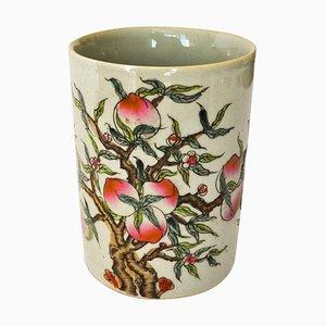 Vintage Chinese Kangxi Period Fencai Brush Pot