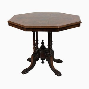 Late-19th Century English Wooden Octagonal Tea Table