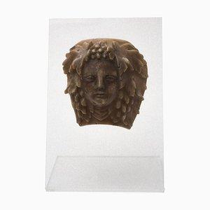 Cire Décorative VIntage Tête de Bacchus, Italie