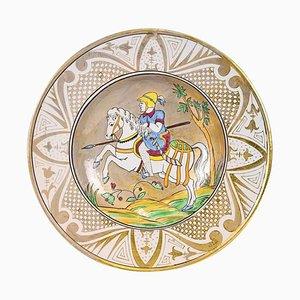 Dekorativer Vintage Teller von Molaroni Pesaro