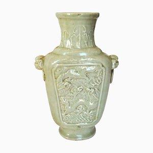Antike chinesische Celadon Porzellanvase aus der Kangxi Periode