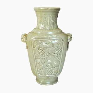 Antique Chinese Kangxi Period Celadon Porcelain Vase