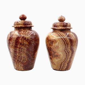 Vintage Marble Vases by Böttinger for Rupp & Moeller, Set of 2