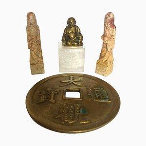 Godful Idols Specksteinfiguren und Bronze, 4er Set