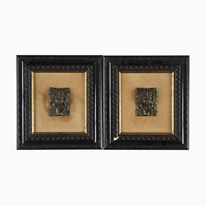 19th Century Decorative Bronze Plate Objects, Set of 2