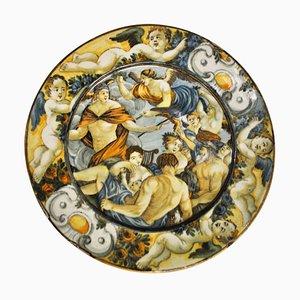 Assiette Castelli 17ème Siècle en Céramique, Abruzzes, Italie