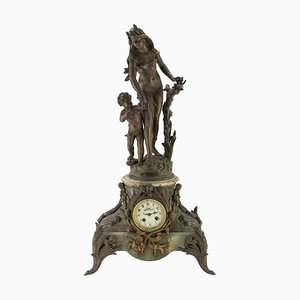 19th Century French Onyx and Antimony Clock