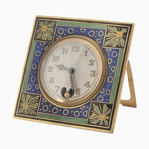 Vintage Russian Enamel and Metal Clock