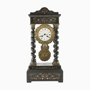 19th Century Ebonized Wood Clock