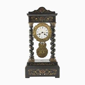 Horloge 19ème Siècle en Bois Noirci