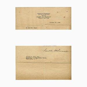 Documento original mecanografiado firmado por FD Roosevelt, 1920