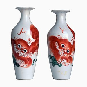 Vintage Chinese Porcelain Vases, Set of 2