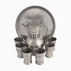 Vintage Pewter Wine Set by Wolfgang von Wersin, Germany, 1938