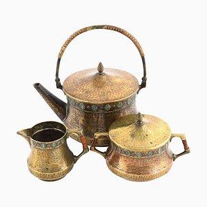 Antique Jugendstil Tea Set from WMF, Germany, 1910s, Set of 3