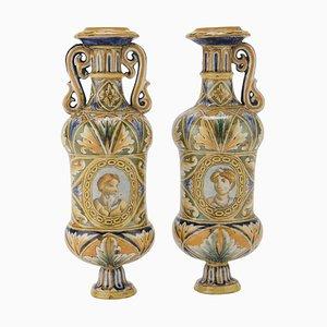 19th Century Italian School Ceramic Jugs, Set of 2