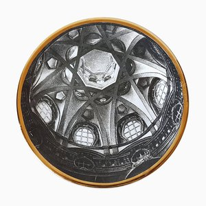 Vintage Plate from the Series of Church Domes Cupole d'Italia by Piero Fornasetti, 1960s