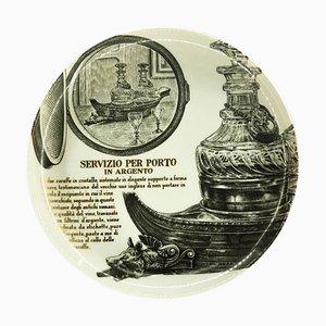 Servizio Per Porto Plate by Piero Fornasetti for Martini & Rossi, 1960s