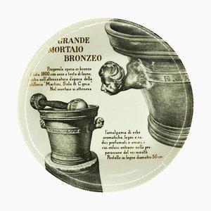 Grande Mortaio Bronze Plate by Piero Fornasetti for Martini & Rossi, 1960s