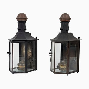 19th Century Italian Carriage Lamps, Set of 2