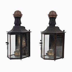 Lampade da trasporto, Italia, XIX secolo, set di 2