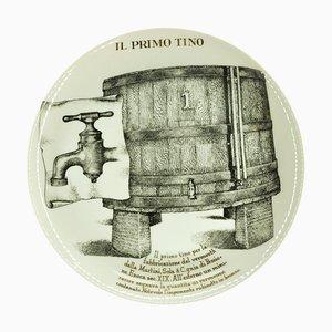 Il Primo Tino Plate by Piero Fornasetti for Martini & Rossi, 1960s