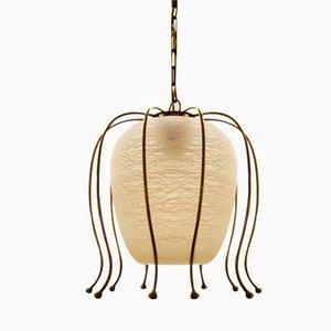 Lampe à Suspension en Laiton de Rupert Nikoll, 1970s