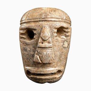 Masque Style Olmèque Antique en Pierre, Mexique