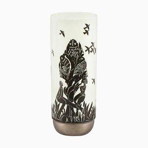 Vintage Ceramic Pastorale Vase by Ambrogio Pozzi for Rosenthal Studio Line, 1960s