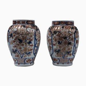 Antique Japanese Porcelain Vases, Set of 2