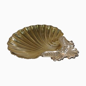 Vintage Schale aus Silber in Muschel-Optik