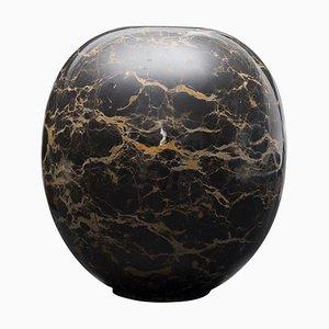 Schwarze Chinesische Marmorvase, 2000er