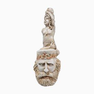 Terracotta Garibaldi's Pipe from Porcellane D'arte Agostinelli