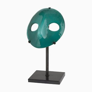 Vintage Green Murano Glass Mask from Venini