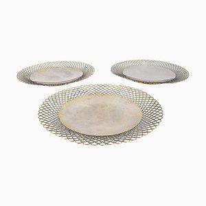 Assiettes en Argent, XIXe siècle, Set de 3