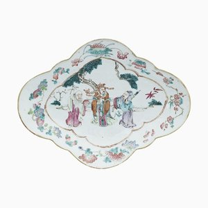 Vintage Chinese Daoguang Oval Tray
