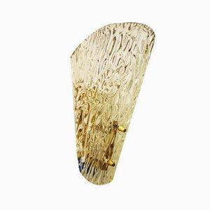 Eisglas Wandleuchte von J.T. Kalmar