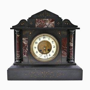 Horloge de Cheminée Vintage en Marbre, France