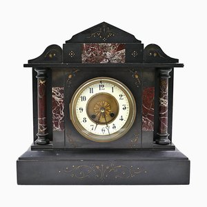 Vintage French Marble Mantel Clock