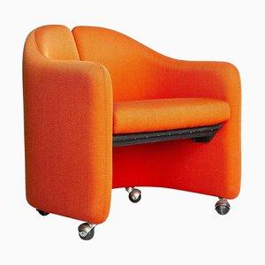 Vintage Italian Orange Armchair, 1980s