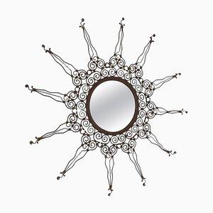 Italienischer Vintage Spiegel aus Eisen, 1970er