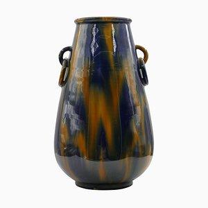 Vintage Vase mit Ringen von Denby Pottery