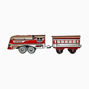 Vintage The Flyer Locomotive and Coach Toy, 1956